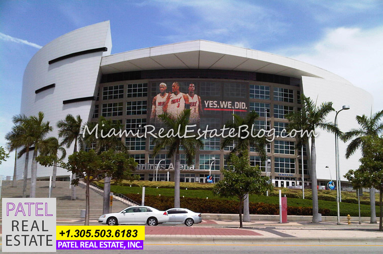 Photo of American Airlines Arena in Downtown Miami